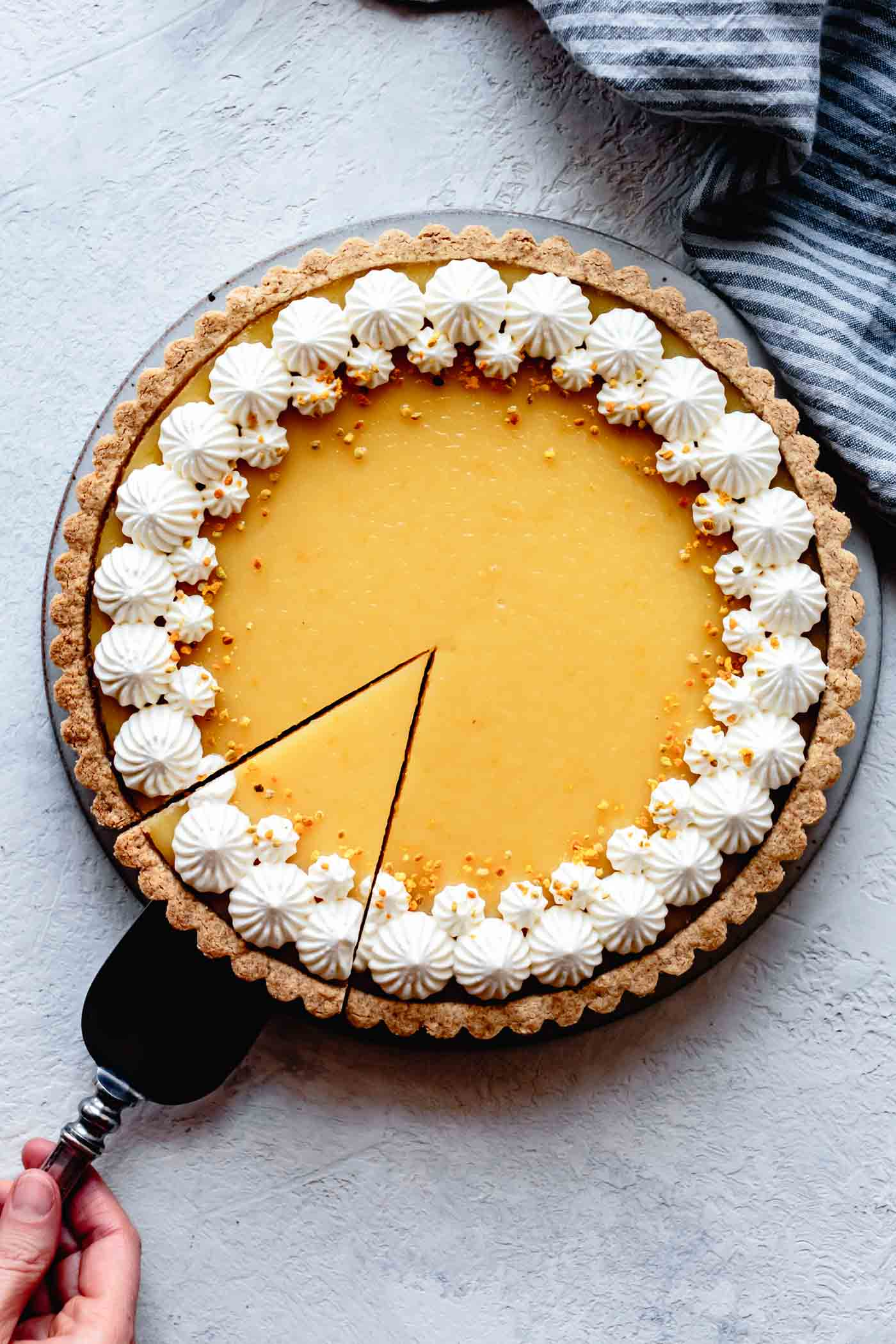 lemon tart in a gf pastry crust