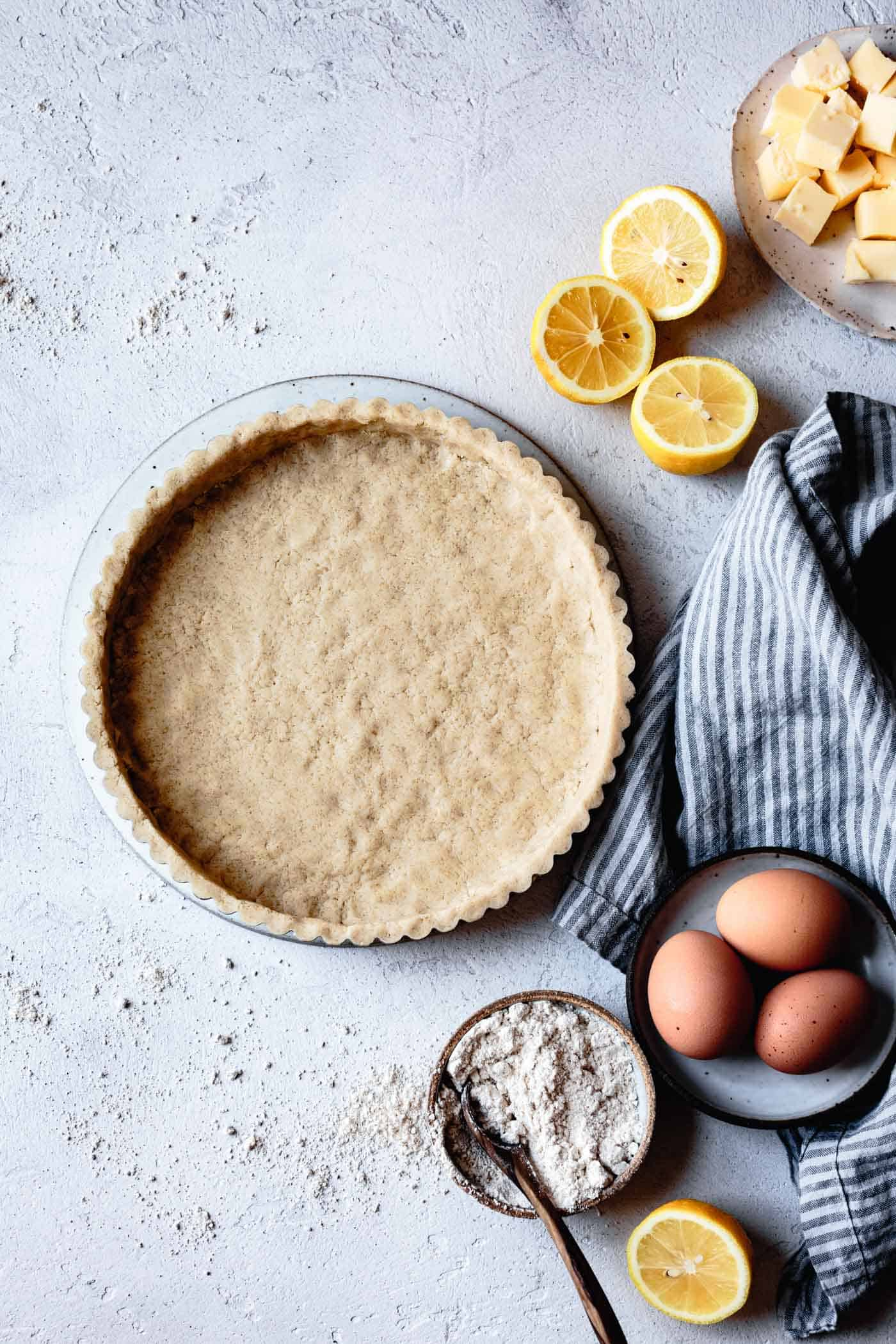 unbaked gluten-free tart crust
