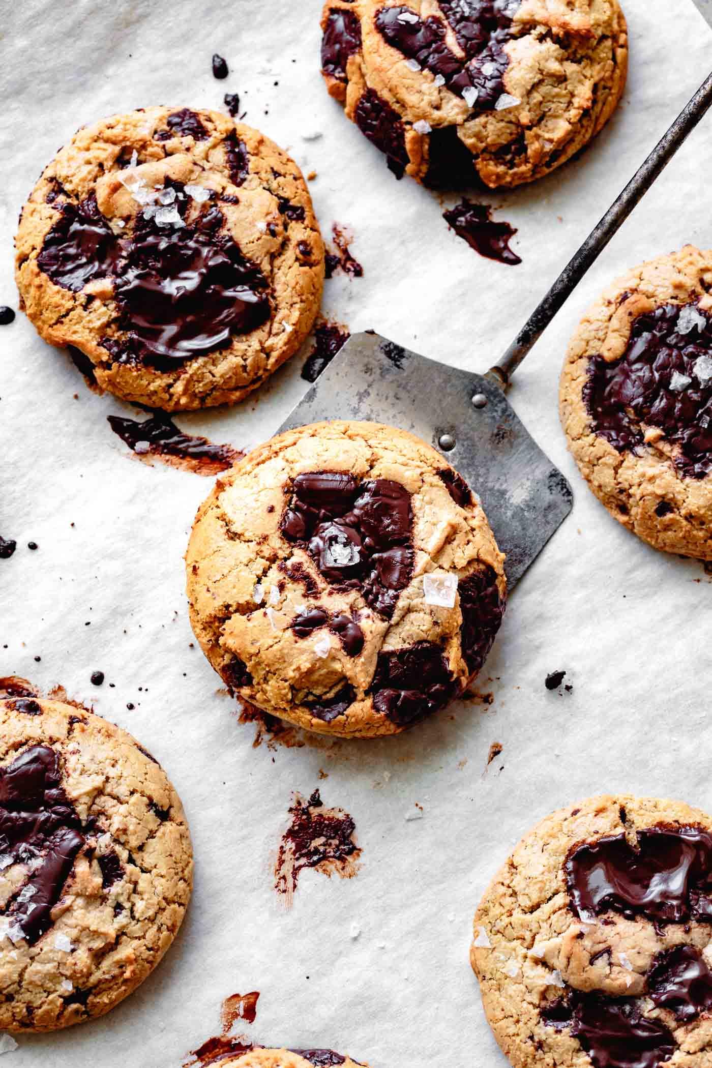 vegan gf cookies, fresh from the oven