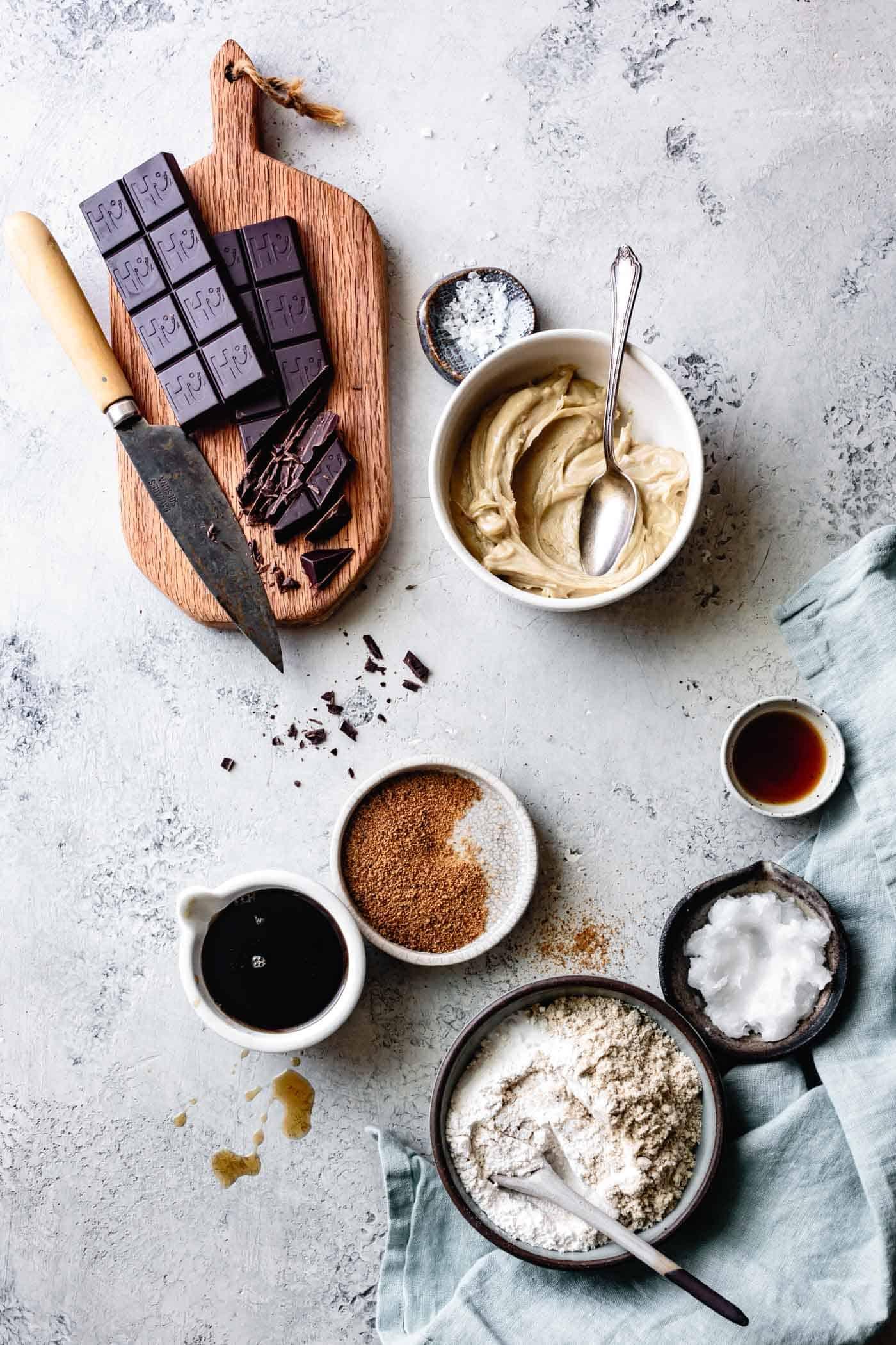 Paleo chocolate chip cookie ingredients