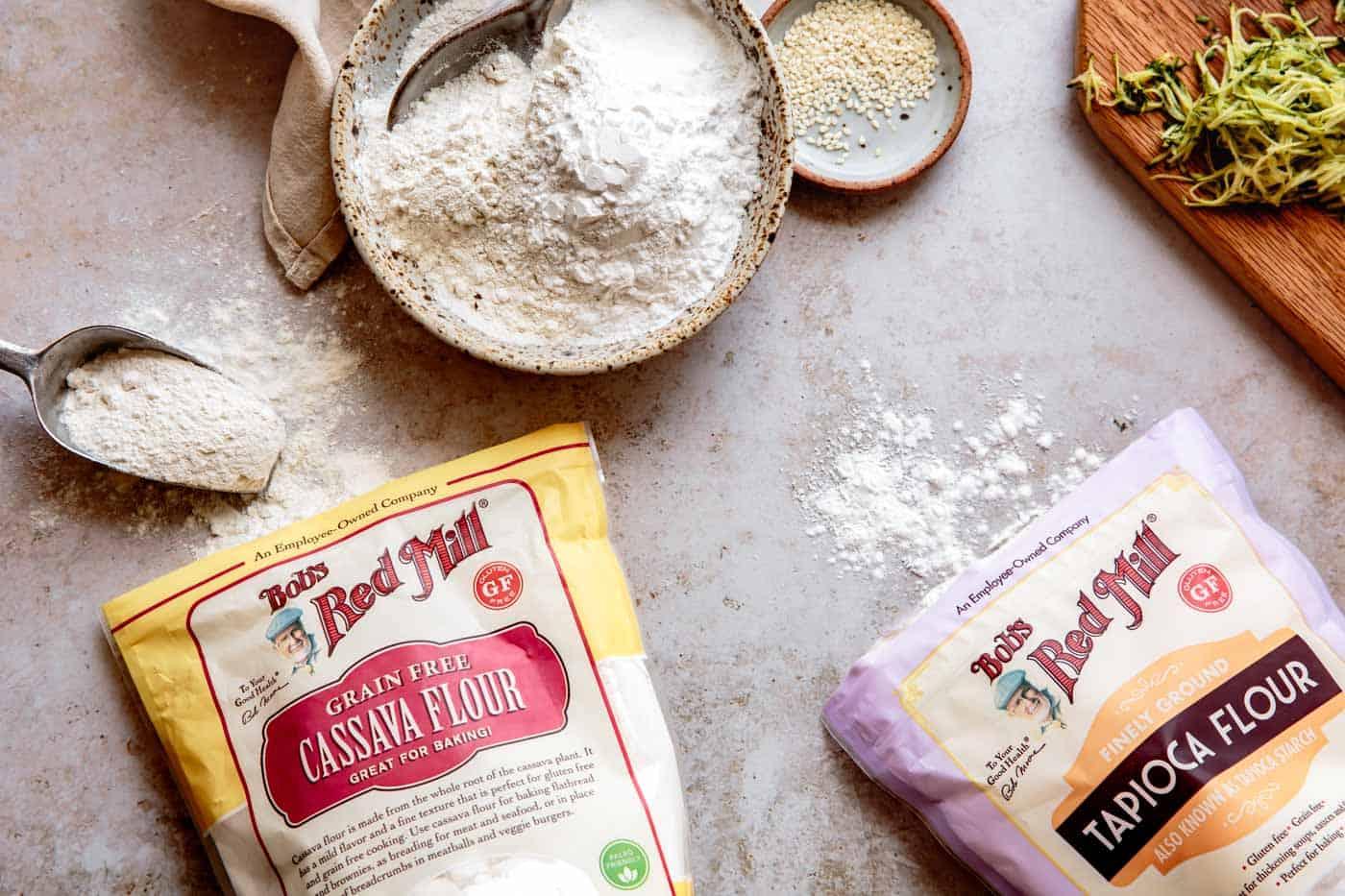 Cassava flour and tapioca flour