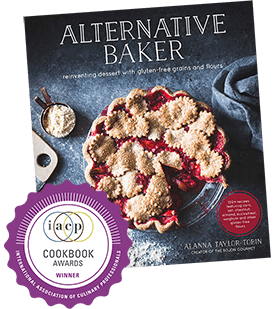 the cover of the award-winning cookbook, Alternative Baker