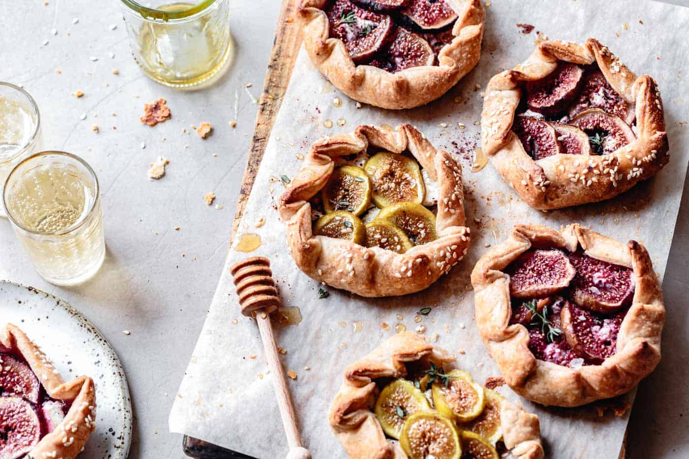 fig galettes on a platter