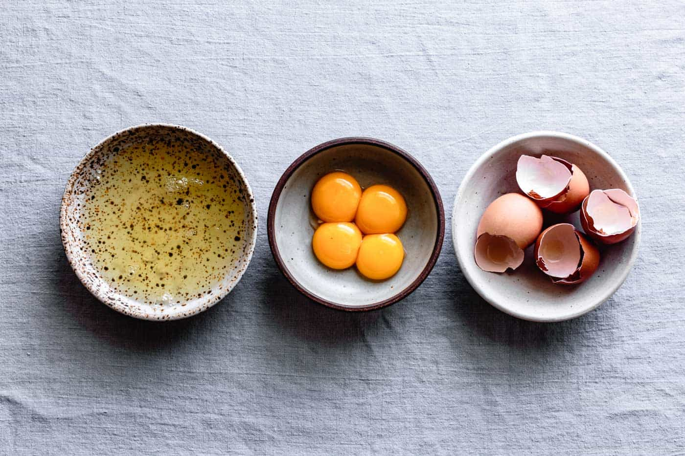 separated eggs for gluten-free chocolate almond cake recipe