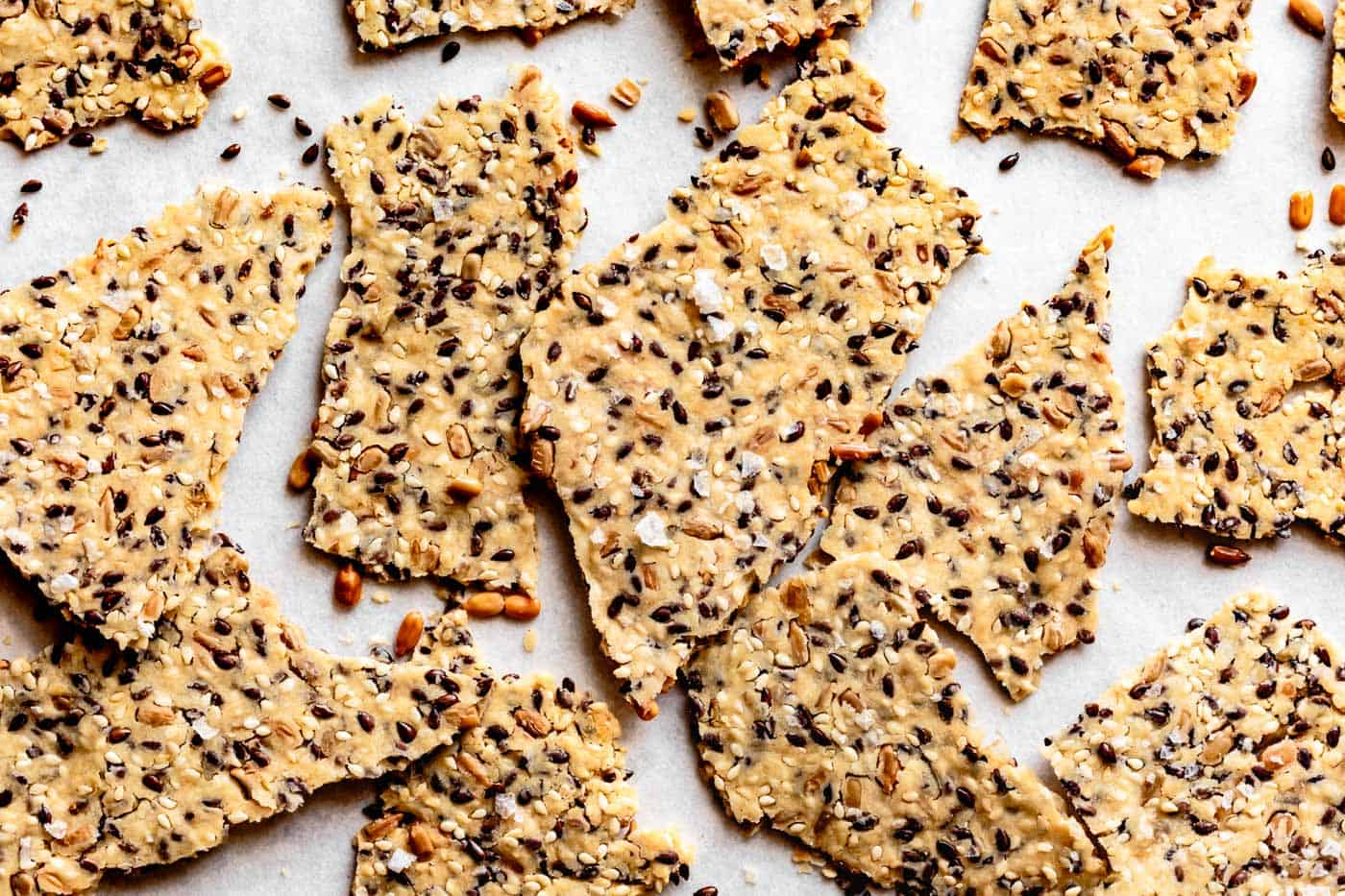 cassava crackers after baking