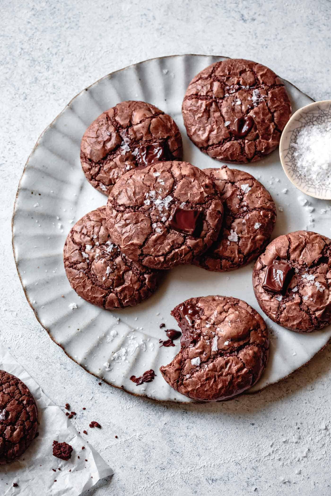 plate of gluten-free dairy-free chocolate cookies