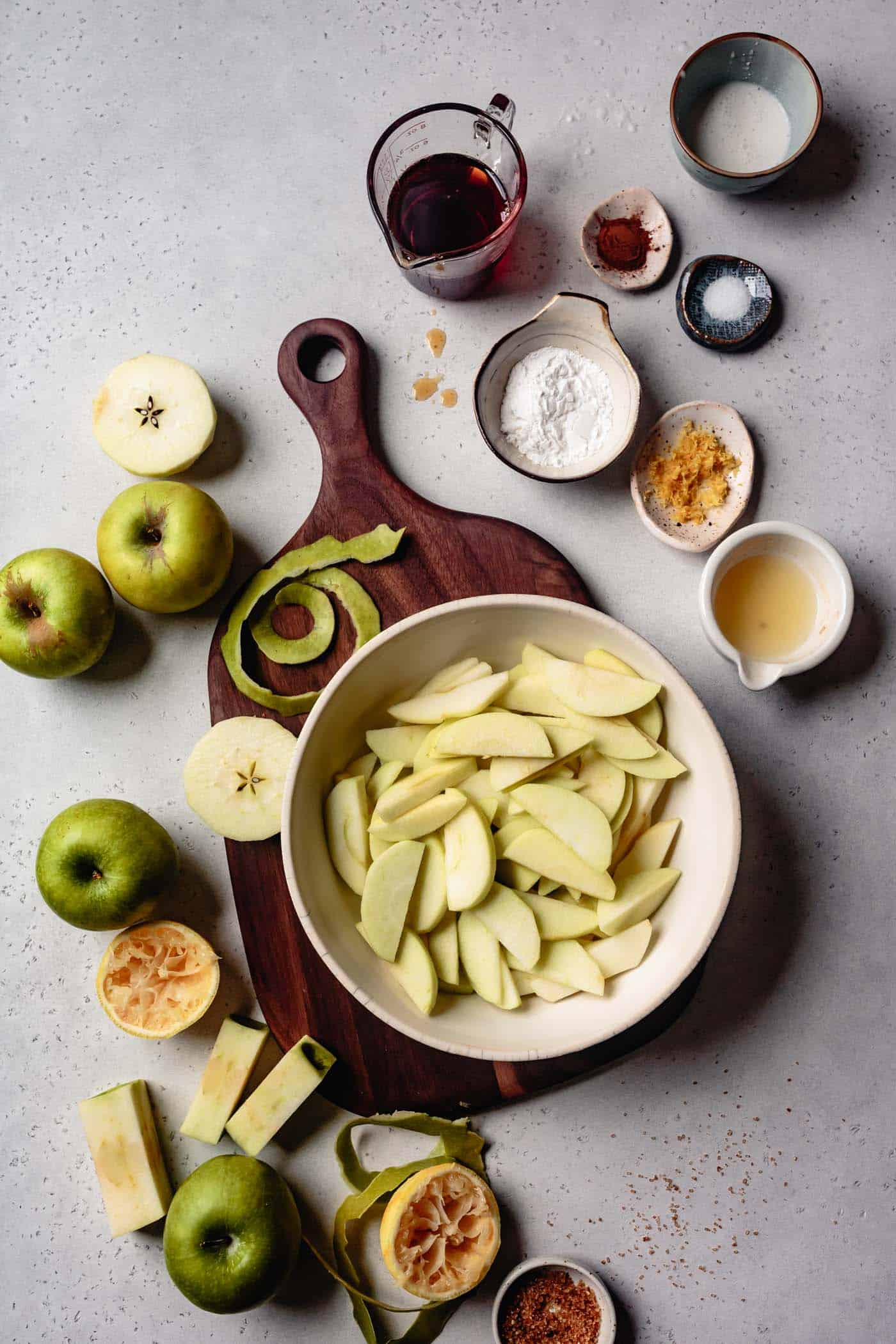 ingredients for homemade apple pie recipe