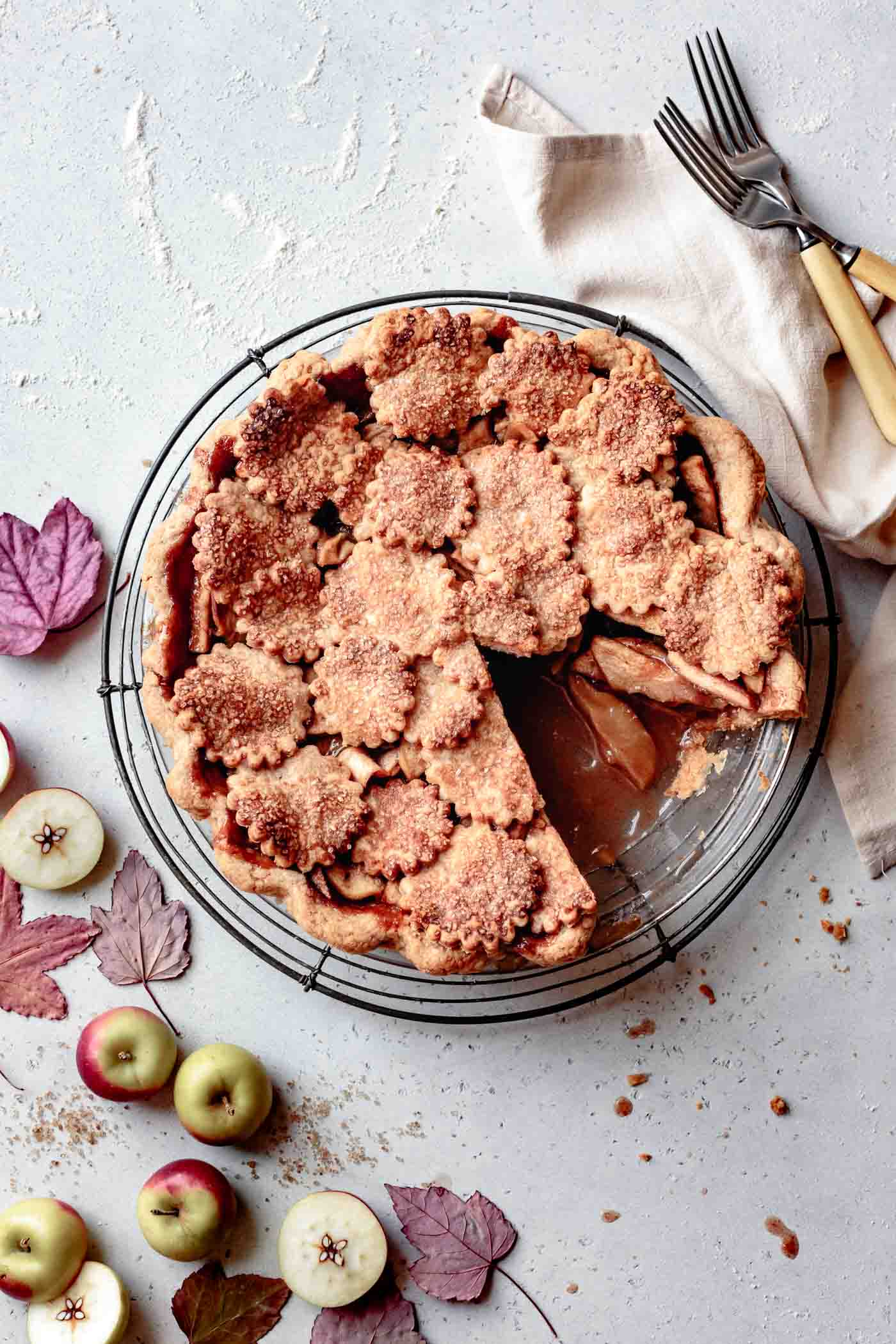 apple pie with almond flour double pie crust