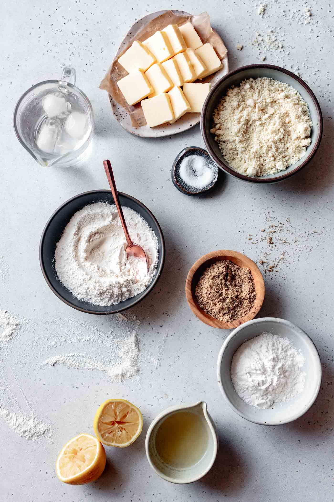 ingredients for paleo pie crust recipe