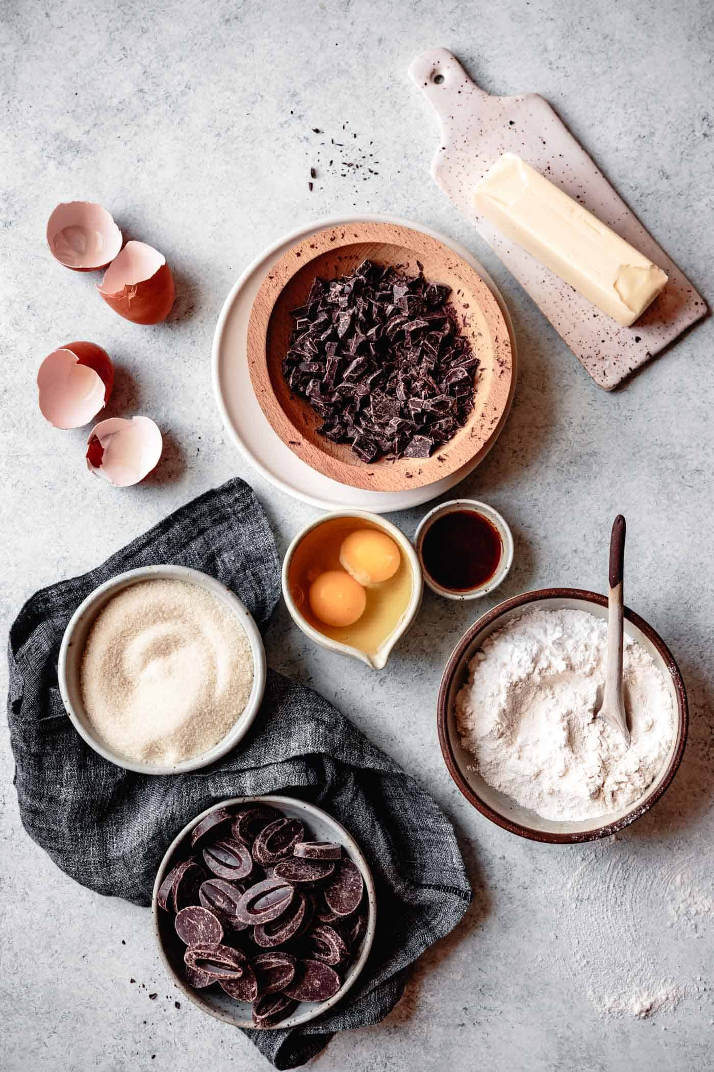 ingredients for gluten-free chocolate cookie recipe