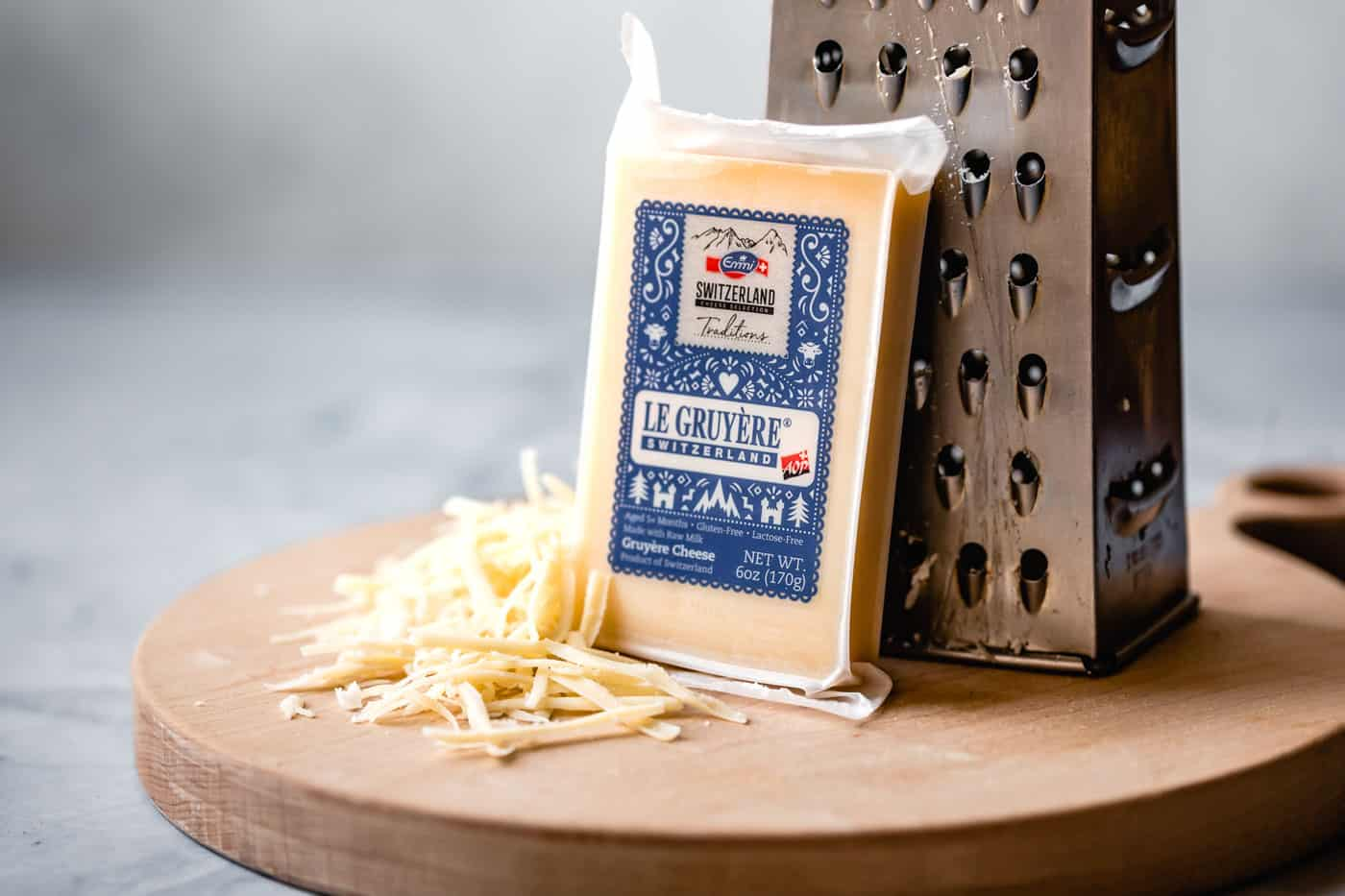 shredded gruyere cheese