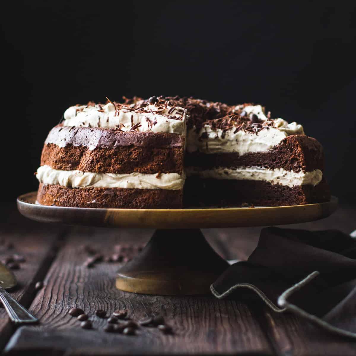 special chocolate desserts: gf chocolate chestnut cake
