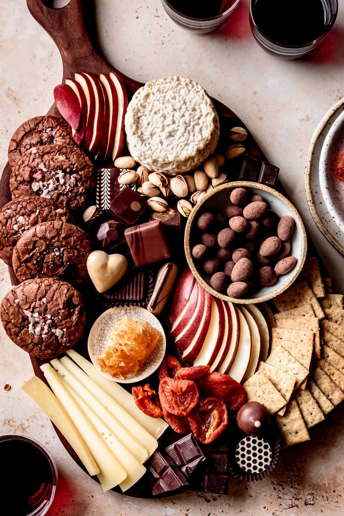 gluten-free dessert recipes: cheese and chocolate board