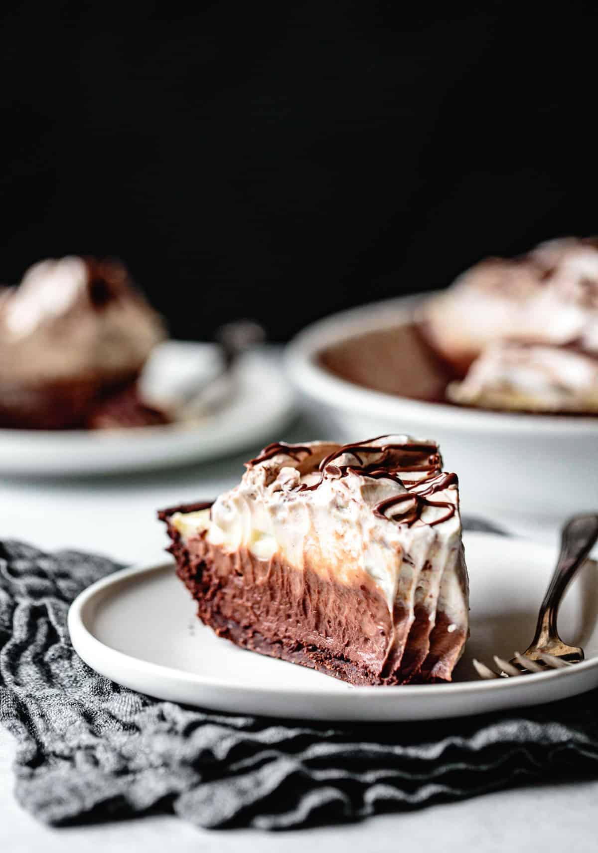 gluten-free chocolate recipes: triple chocolate pie