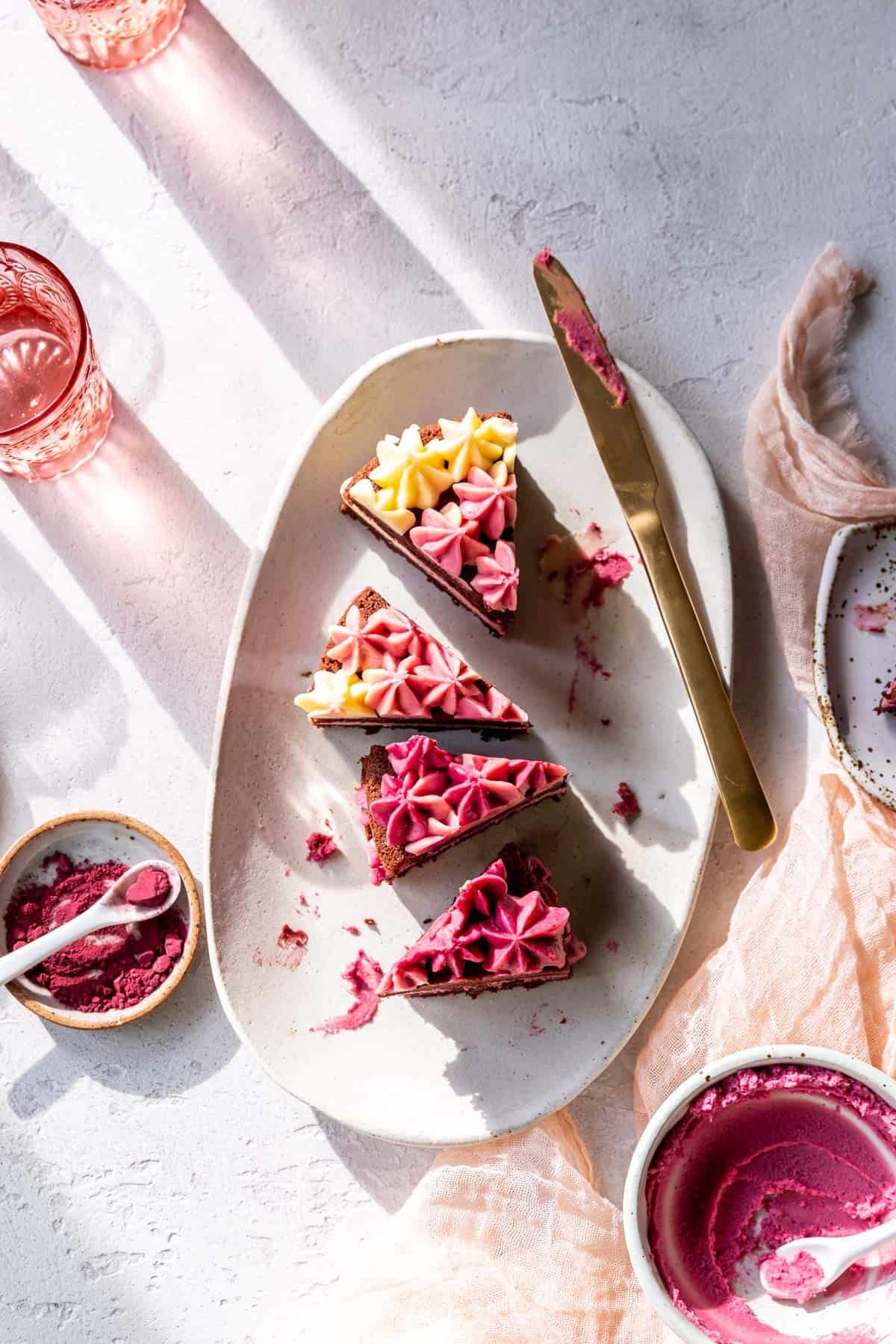 easy elegant chocolate desserts: gluten-free red velvet cake