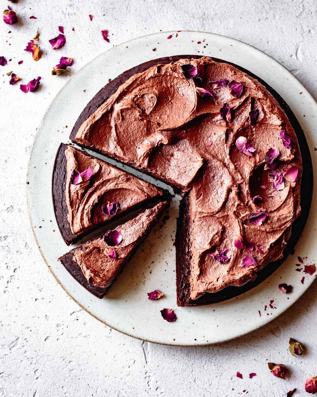 vegan chocolate dessert recipes: gf vegan chocolate cake