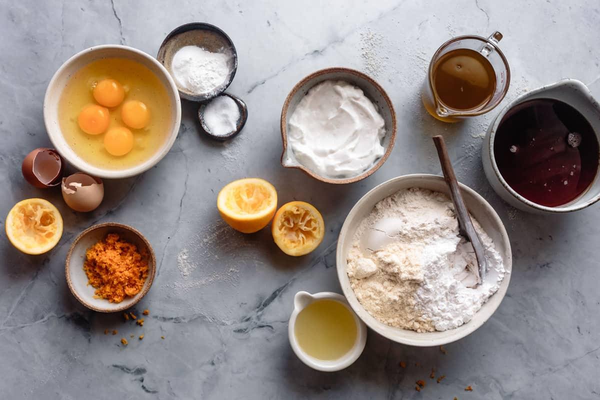 ingredients for coconut flour cake recipe