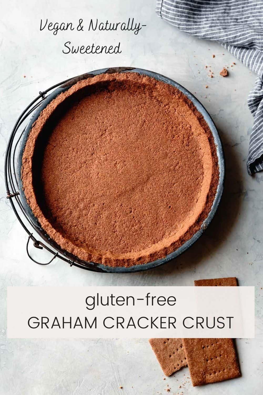 vegan graham cracker crust with text overlay